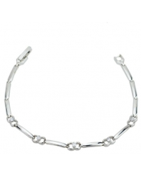 Cubic Zirconia And Rhodium Plated Bracelet
