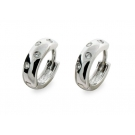 Rhodium Plated Etoile Earrings with Cubic Zirconia