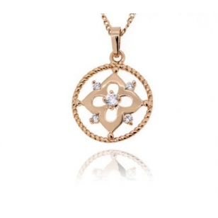 18k Gold Plated Necklace and Pendant Set