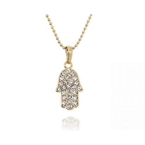 10 necklaces and pendants 18k gold plated crystal pave hamsa hand 18k gold plated crystal pave hamsa hand pendant and necklace set loading zoom aloadofball Choice Image