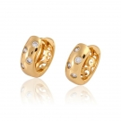 18K Gold Plated Etoile Earrings with Cubic Zirconia