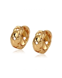 18K Gold Plated Woven Hoop Earrings