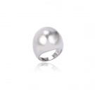 Rhodium Plated Dome Ring