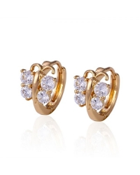 18K Gold Plated Butterly Earrings with Cubic Zirconia