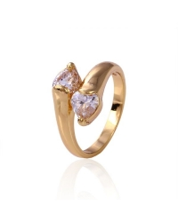 18K Gold Plated Ring With Cubic Zirconia