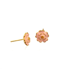 18K Gold Plated Flower Pin Earrings