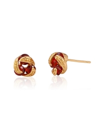 18K Gold Plated Pin Earrings