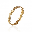 18K Gold Plated Textured Bangle