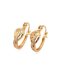 18K Gold Plated Chiseled Hoop Earrings