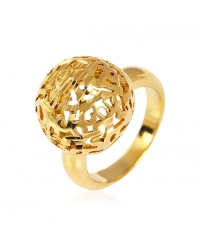 18K Gold Plated Dome Ring