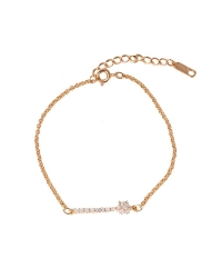 Rose Gold Plated Flower Bracelet