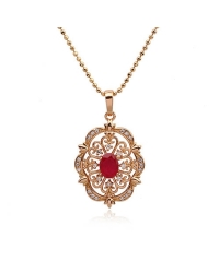 Rose Gold Plated Pendant and Necklace Set
