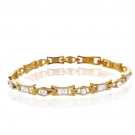 18K Gold Plated Bracelet with Cubic Zirconia
