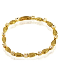 18K Gold Plated and Cubic Zirconia Bracelet