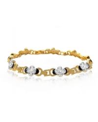 18K Gold Plated Bracelet With Clover Detail