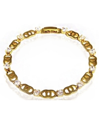 18K Gold Plated and Crystal Bracelet