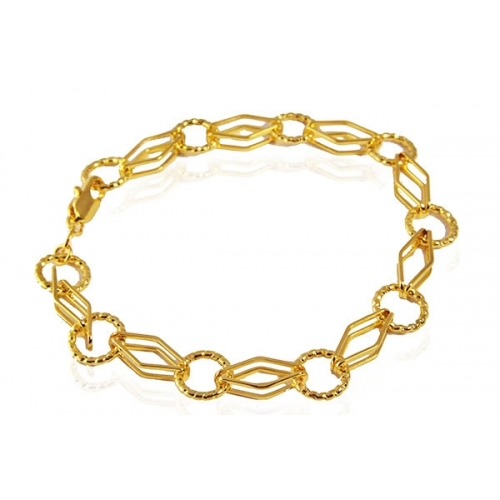 dbe60ce9818cf Deals on Jewelry - 18K Gold Plated Link Bracelet