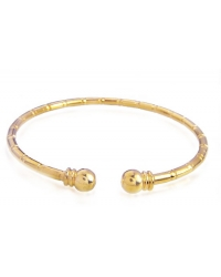 Gold Open Ended Bangle