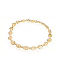 18K Gold Plated Coffee Bean Bracelet