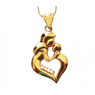 Mother and child pendant and necklace set 18k gold plated mother and child pendant and necklace aloadofball Images