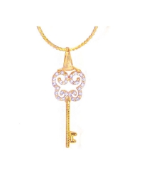 18K Gold Plated Key To My Heart Pendant And Necklace Set