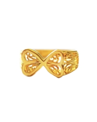 18K Gold Plated Butterfly Ring
