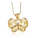 18K Gold Plated Butterfly Pendant and Necklace