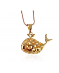 18K Gold Plated Lucky Fish Pendant And Necklace