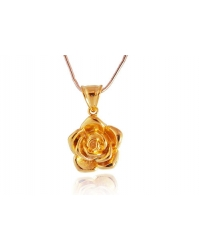 18K Gold Plated Flower Pendant and Necklace Set
