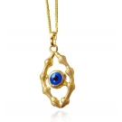 14K Gold Plated Evil Eye Pendant and Necklace