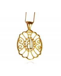 18K Gold Plated Pendant and Necklace Set