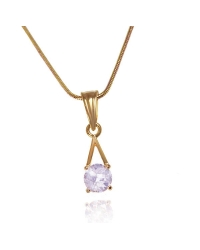18K Gold Plated Drop Pendant And Necklace