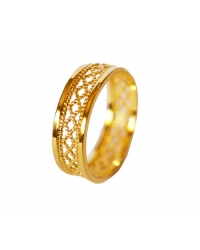 18K Gold Plated Filligree Ring