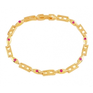 18K Gold Plated Blue Stone Bracelet