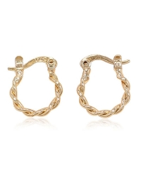 18K Gold Plated Twisted Hoop Earrings