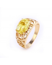 14K Gold Plated Multicolor Gemstone Ring