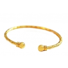 18K Gold Plated Open Ended Bangle Bracelet