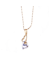 Gold Two Hearts Necklace