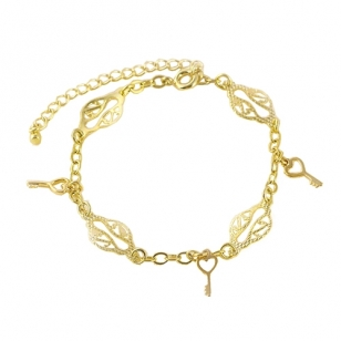 14K Gold Plated Bracelet With Cubic Zirconia