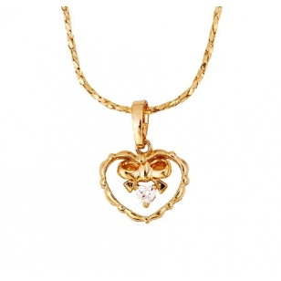 Rose Gold Heart Pendant and Necklace
