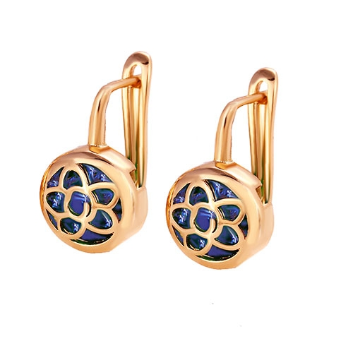 new online earring products lzeshine brand arrival micro earrings color large uyl plt store stud wholesale blue round zircon stone silver inlay