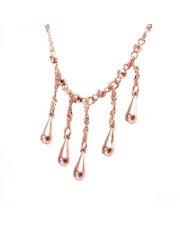 Rose Gold Plated Drop Necklace