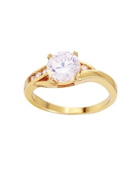 14K Gold Plated Engagement Ring