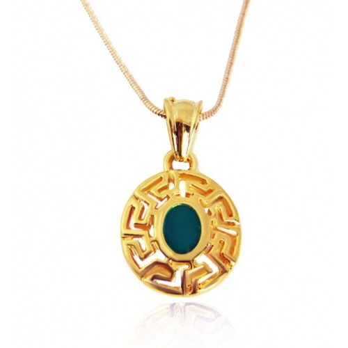 Versace inspired pendant and necklace 18k gold plated versace inspired pendant and necklace loading zoom mozeypictures Image collections
