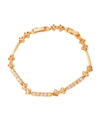 Rose Gold and Cubic Zirconia Bracelet