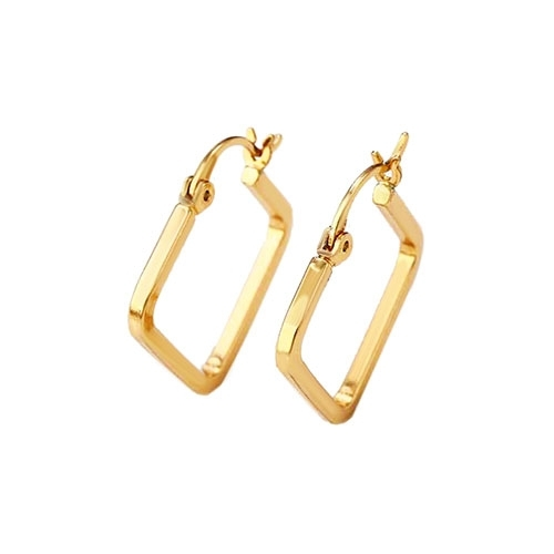 18k Gold Plated Hoop Earrings Loading Zoom