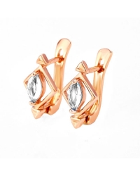 18K Gold Plated Simulated Diamond Earrings