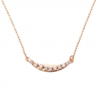18K Gold Plated Necklace with Simulated Diamonds