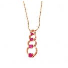 Rose Gold Chain with Red Stones