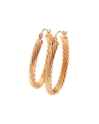 18K Gold Plated Double Hoop Earrings